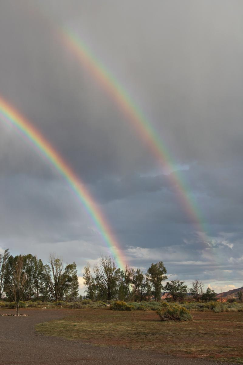 Double Rainbow Torrey Utah