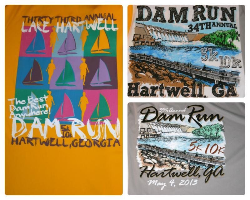 Hartwell Dam Run Tee Shirts