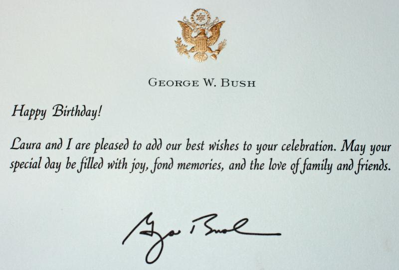 Birthday Wishes George Bush